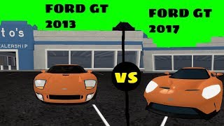IS THE FORD GT 2013 FASTER THAN 2017?! | ROBLOX VEHICLE SIMULATOR