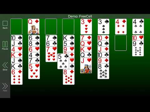 Demo Of Freecell Solitaire From