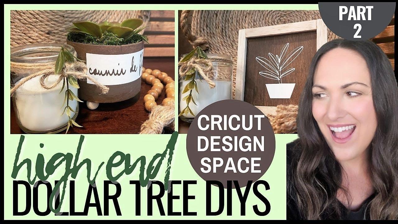 🟢 HIGH END DOLLAR TREE HOME DÉCOR DIYS | CRICUT JOY | HOW TO USE CRICUT DESIGN SPACE