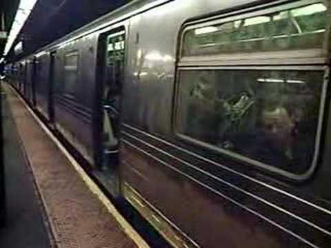 D train at West 4th Street-Washington Square
