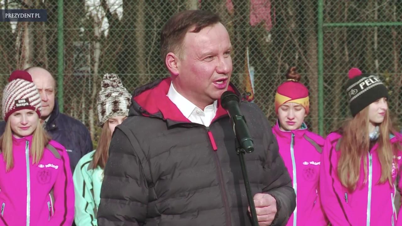 Prezydent odwiedził Szkołę Mistrzostwa Sportowego Sportów Zimowych Szczyrk