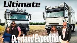 Overland Couples Travel in GLOBAL 4x4 Expedition Vehicle ► | Tiny Living Mercedes Iveco