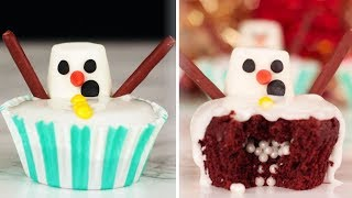 FUN Christmas Dessert Ideas | Yummy DIY SNOWMAN CUPCAKES and More Christmas Treats