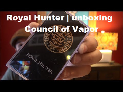 Unboxing the Royal Hunter RDA from Council of Vapor