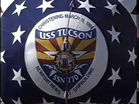 USS TUCSON (SSN 770) Christening  Ceremony