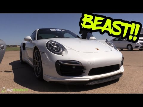Porsche 911 Turbo S Cracking Skulls and Setting 1/2 Mile Record!!
