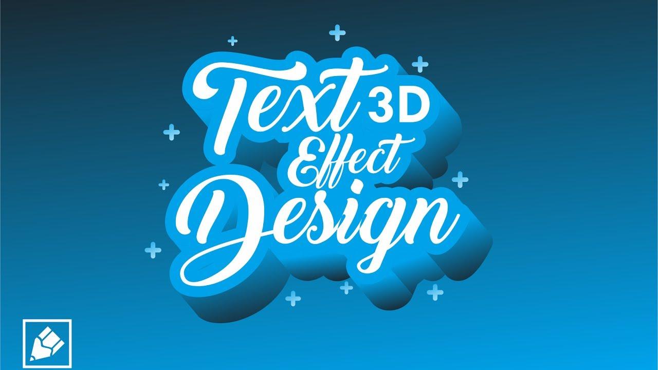 Tutorial Typography Keren / 3D Text Effect Design - Corel Draw Bahasa  Indonesia