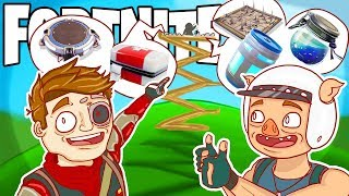 LOOK AT ALL THAT LOOT UP THERE, NOTHING COULD GO WRONG! (Fortnite Funny Moments)