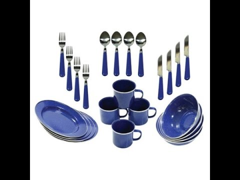 Stansport 24 piece camping tableware set (bug out trailer addition)
