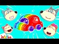 Wolfoo Learns Colors with Rainbow Jelly Car - Kids Stories About Wolfoo Family   Wolfoo Channel