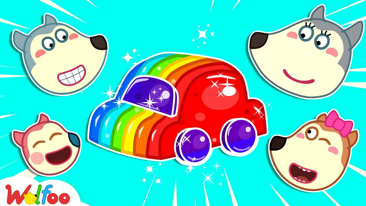 Wolfoo Learns Colors with Rainbow Jelly Car - Kids Stories About Wolfoo Family | Wolfoo Channel