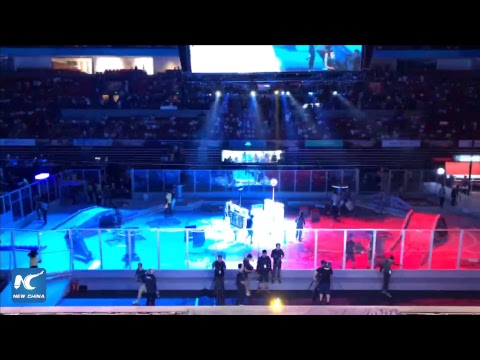 Robots battle it out at RoboMaster 2017 finals in Shenzhen, China
