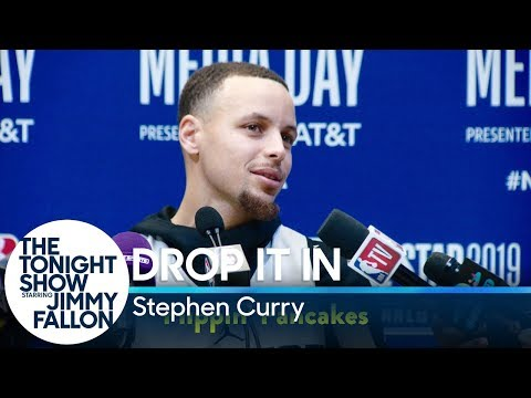 Meredith And AJ In The Morning - Jimmy Fallon and Steph Curry Slip Funny Words in to Press Conference