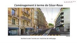 Rue César-Roux: réaménagement et enjeux du projet (avec sous-titres)