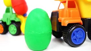 Jurassic World Play Doh Surprise Eggs Construction Toys Dump Truck Lego Cars Spongebob Wheel Loader
