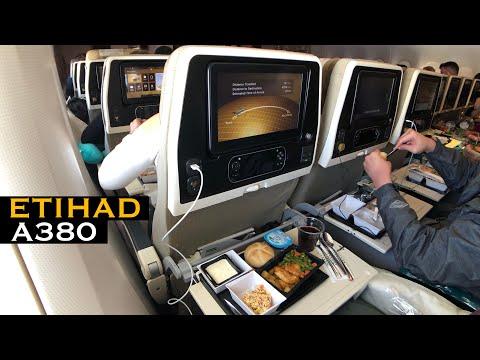 FRIENDLY Etihad A380 Flight | EY32 Paris to Abu Dhabi (Economy Class)