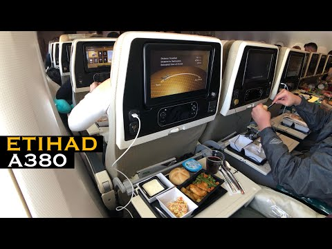 FRIENDLY Etihad A380 Flight | EY32 Paris To Abu Dhabi (Economy Class)