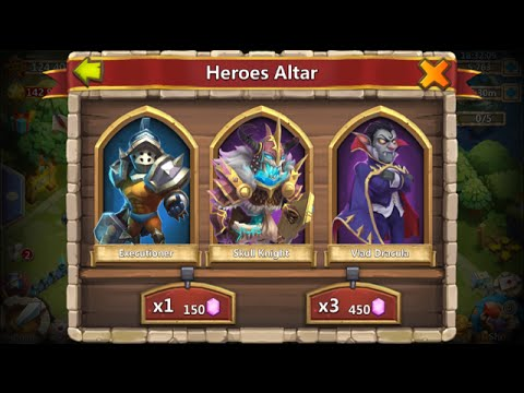 Castle Clash Rolling 20000 Gems For Heroes Phantom King Ghoulem Val