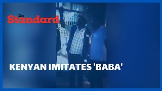 Kenyan hilariously imitates Former Prime Minister, Raila Odinga