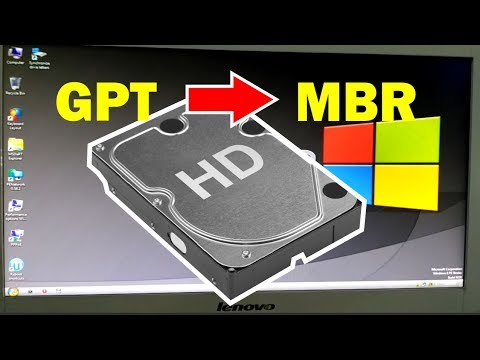 how to convert harddisk GPT to MBR without losing data