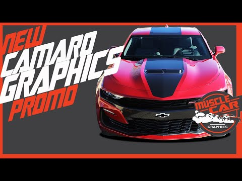 SALES VIDEO! 2019 Chevy Camaro SS & RS Hood & Side Stripes | Promo Video | Muscle Car Graphics Kits