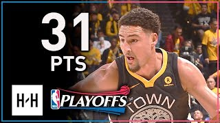 Klay Thompson Full Game 2 Highlights Warriors vs Spurs 2018 Playoffs - 31 Points, SICK Shooting!