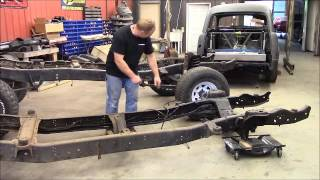 How I cut and spliced the frame on the 4 door bronco diesel converstion