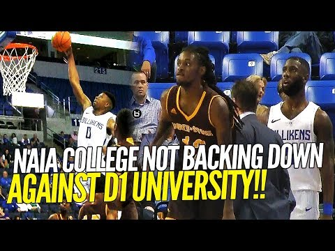 NAIA School Puts Up A FIGHT Against Division 1 College!! Full Highlights!