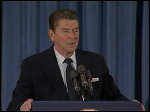President Reagan's 10th Press Conference in the East Room on May 13, 1982