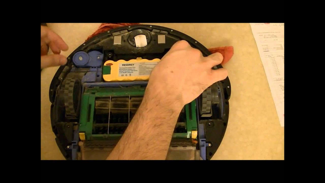 IRobot Roomba 500 series error and solution how to replace a dead battery