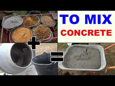 how to mix concrete with a mixer make ciment
