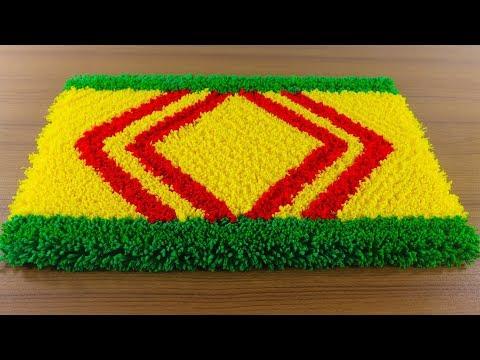 ☔নাইস ডোরমেট আইডিয়া 🚲 Make Awesome Handmade Doormat At Home !