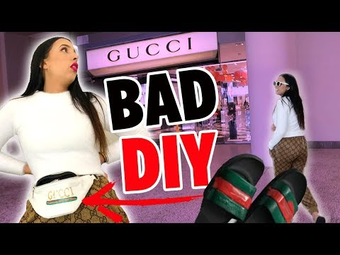 I WENT TO GUCCI WEARING DIY GUCCI CLOTHES 🎨| Mar