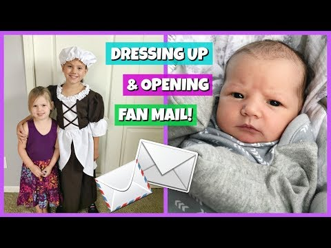 DRESSING UP FOR SCHOOL AND OPENING FAN MAIL! | FAMILY VLOG