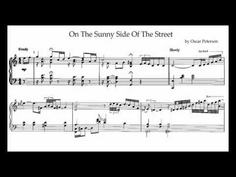 Oscar Peterson - On The Sunny Side Of The Street (transcription)