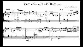 oscar peterson on the sunny side of the street transcription