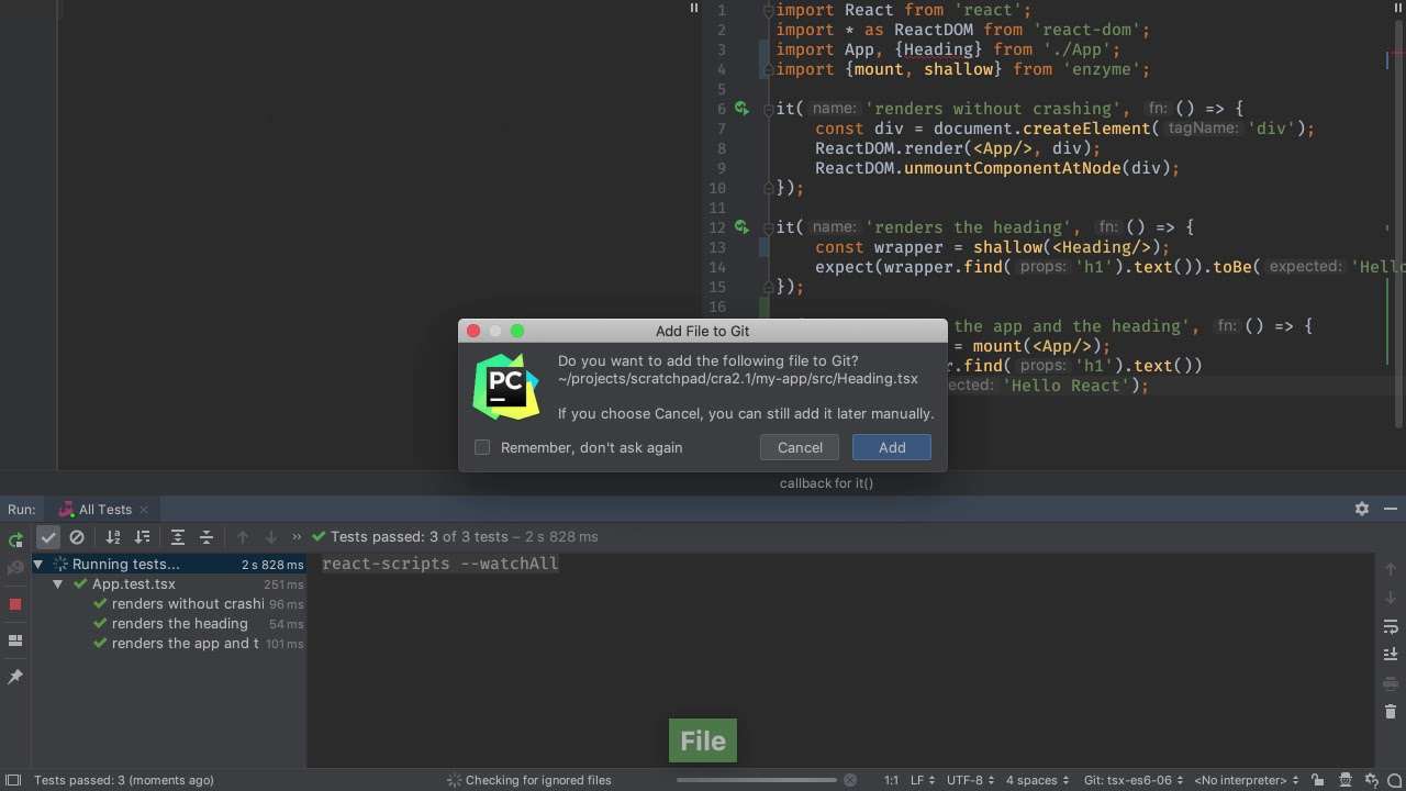 Functional React Components in TypeScript - PyCharm Guide