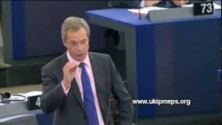 Nigel Farage addresses the vilest man in EU politics (Sep 2013)