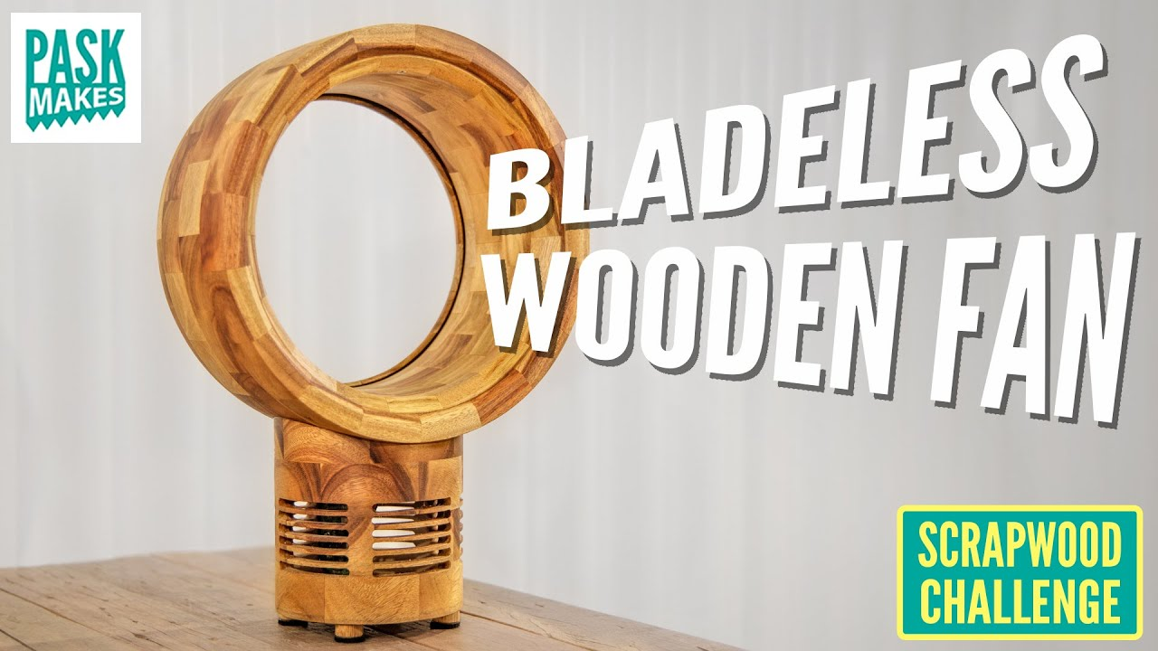 Making a Bladeless Wooden Fan - Scrapwood Challenge ep38 - YouTube