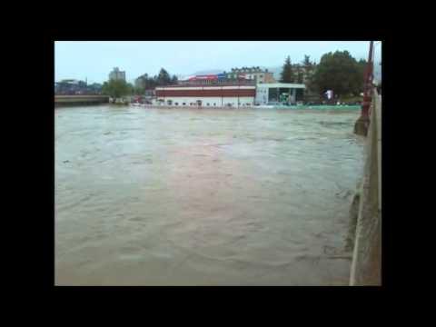 Flooded River West Morava 15.05.2014. Cacak Serbia