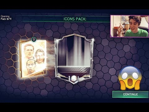 FIFA MOBILE 18 ICON PACK OPENING!!! LEGEND IN A PACK!! | ICON BUNDLE PACK OPENING on FIFA 18 Mobile!