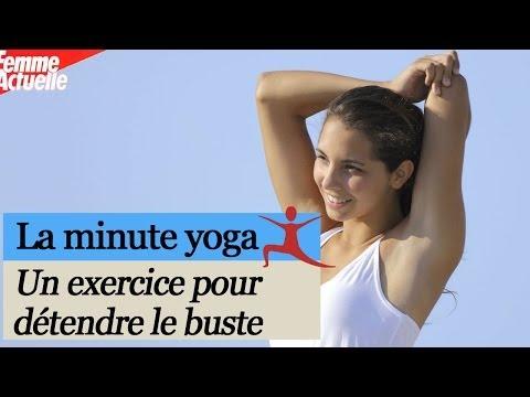 Yoga : un exercice pour se détendre le buste
