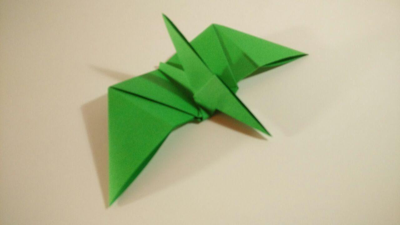 Como hacer un pterodactilo de papel Dinosaurios de Origami YouTube