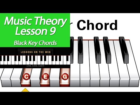Learn Music Theory Lesson 9 : Black key chords