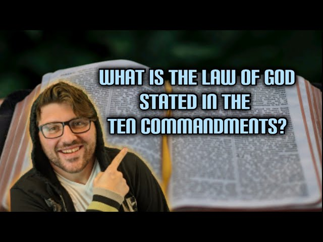 New City Catechism question 8: What is the Law of God stated in the Ten Commandments?