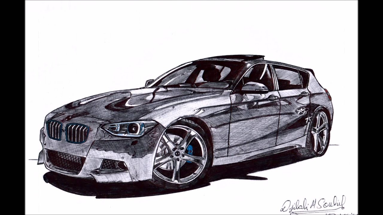 How to Draw cars step by step - special BMW - YouTube