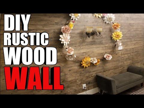 DIY Rustic Wood wall step by step