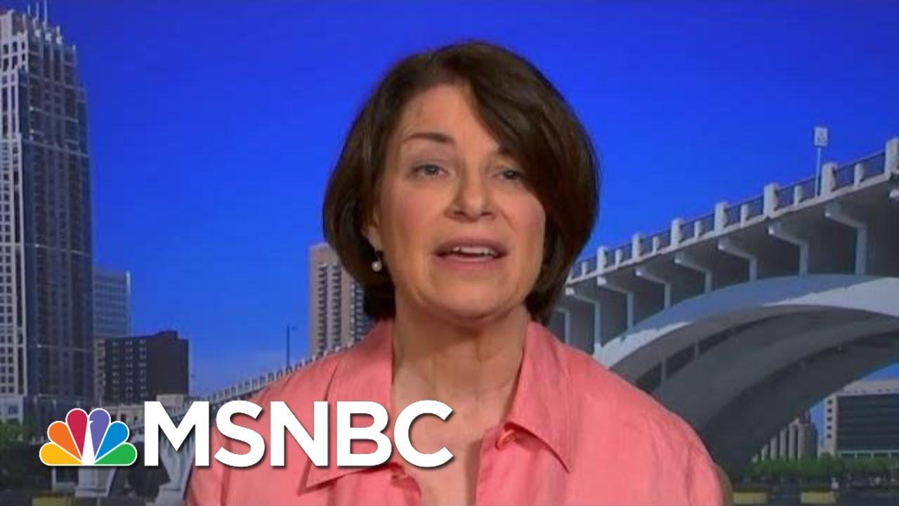 Report: Amy Klobuchar 'officially' being vetted as Joe Biden's ...