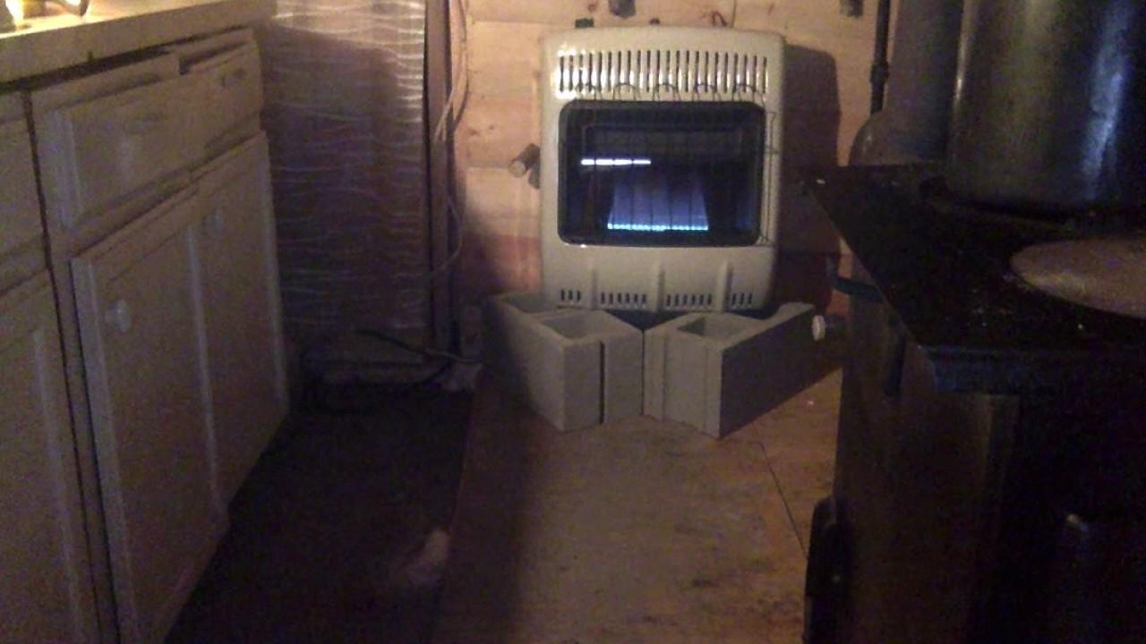 Mr Heater 20k Btu Heater Installed Youtube