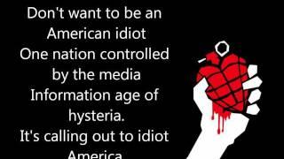Download Green Day - American Idiot lyrics [1080p]